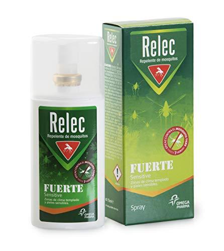 Spray Moustique Familial Efficace Relec Strong. Inodore. Peau sensible. Anti-moustiques - 75 ml