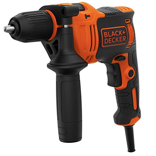 BLACK+DECKER BEH710K-QS Foret à percussion avec câble de 710W, mandrin de 13mm, 4 forets et mallette de transport inclus