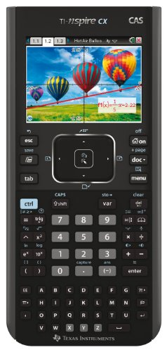 Texas Instruments TI Nspire CX CAS - Calculatrice graphique (écran 3.2', touche Touchpad), noir