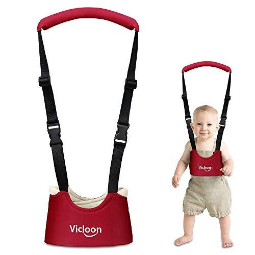 Harnais Vicloon Walker sangles avec sangles pour bébé Anneaux de marche pour apprendre à marcher Double fonction Double fonction Double protection