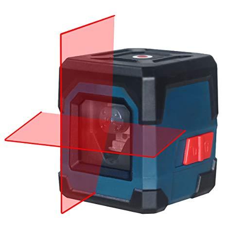 Niveau laser, niveau laser croisé HANMATEK Niveau laser horizontal et vertical 15M Niveau laser automatique à 3 niveaux avec mode manuel/automatique IP54 Anti-éclaboussures 1M Anti-chocs (pile incluse)