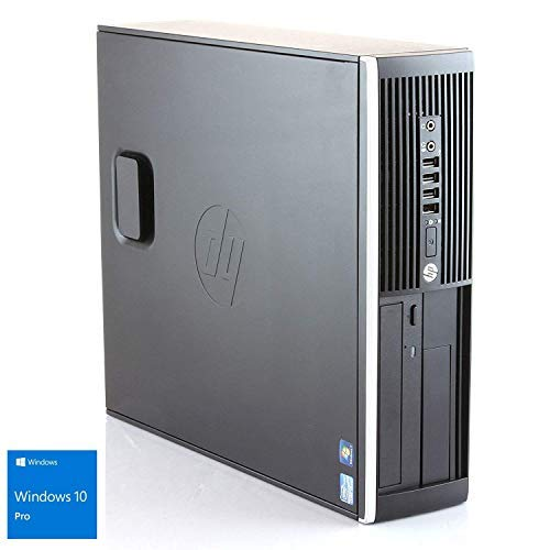 Hp Elite 8300 - Ordinateur de bureau (Intel Core i5-3470, 8 Go de RAM, disque dur 500 Go, lecteur DVD, Windows 10 PRO ES 64) - Noir (remis à neuf)