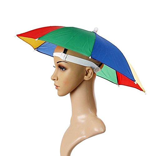 Sungpunet - Chapeau parapluie avec bandeau réglable, pour le soleil et la pluie, visière de pêche