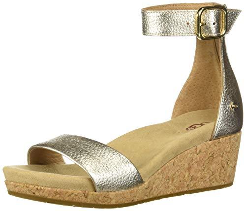 UGGG - Zoe Ii Sandale à talon compensé métallisé pour femme