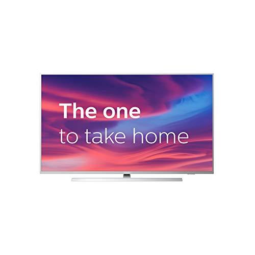 Philips Ambilight 50PUS7304/12 126 cm (50 pouces) Smart TV avec 4K UHD, TV LED, HDR 10+, Android TV, Google Assistant, compatibilité Dolby Atmos et Alexa, couleur argent clair