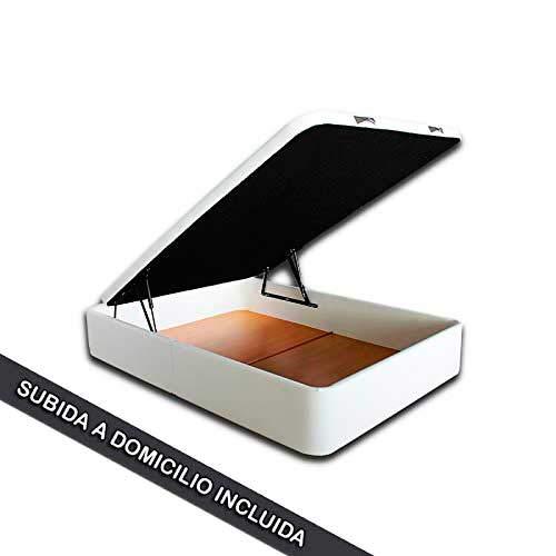Ventadecolchones - Modèle Canapé Serena Grande Capacité rembourré en Polyskin Blanc Mesures 180 x 200 cm (2 et 90 x 200)