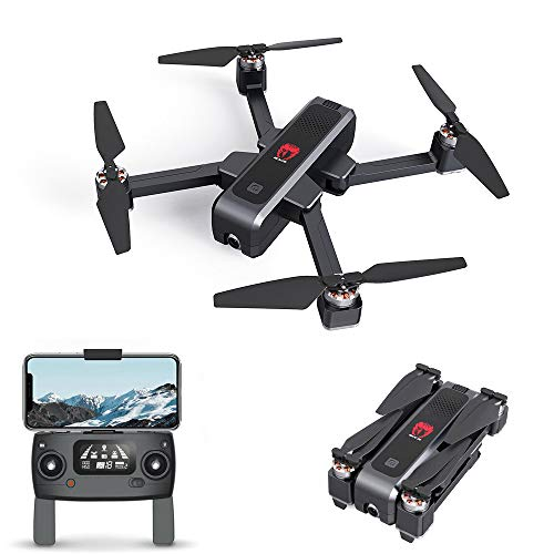 MACHINE EX3 Drone 4k GPS, Drone professionnel avec caméra 4k, Moteur Drone Brushless, Drone GPS 5G, Drone FPV WiFi Drone Real Time, Drone Drone Pliable à distance OLED Drone Drone RC Quadcopter RTF