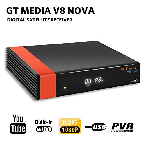 GT Media V8 Nova DVB-S2 Décodeur décodeur satellite récepteur TV numérique par satellite avec Wi-Fi / SCART / 1080P Full HD / FTA Support intégré CCcam, PVR Ready, Newcam, Youtube, PowerVu Dre Biss Key
