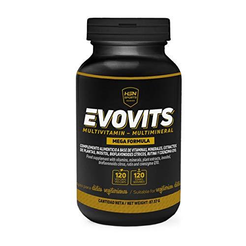 HSN Sports - Evovits Multivitamines, Minéraux - Complexe Multivitaminé pour Femmes, Hommes, Végétariens et Sportifs - 120 capsules