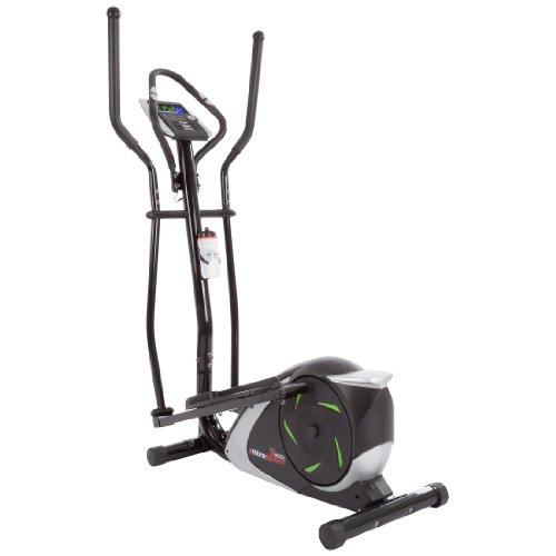 Ultrasport XT-Trainer 800A vélo elliptique avec capteurs de pouls manuels, bouteille incluse