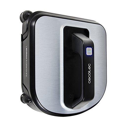 Cecotec Conga WinRobot Excellence 970 Robot nettoyeur de vitres avec Navigation Itech Win 3 75 W, noir/argent