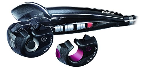BaByliss Curl Secret 2 C1300E Boucleur de cheveux automatique avec 2 têtes, 100% automatique, double chauffage en céramique, boucles, boucles et toutes sortes de vagues, Color Black