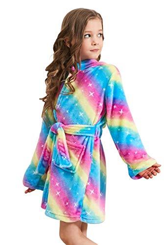 DRESHOW Peignoir licorne douce avec capuche Vêtements de couchage - Cadeaux licorne pour les filles