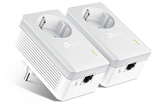 TP-Link TL-PA4010PKIT - PLC 2 Mini Adaptateurs (AV 600 Mbps, prolongateur, répéteurs réseau, amplificateur de couverture Internet, ligne électrique, 2 ports, prise supplémentaire)