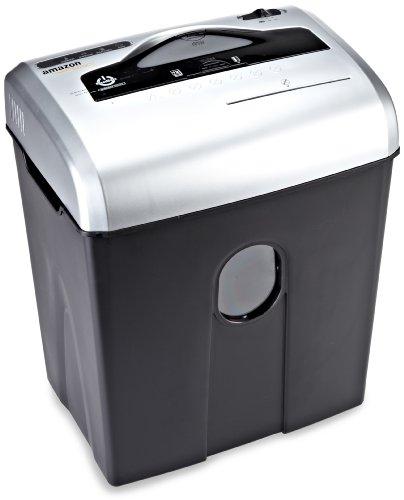 AmazonBasics - Déchiqueteuse pour papier, cartes de crédit et CD avec conteneur séparable (coupe transversale, capacité jusqu'à 12 feuilles), gris