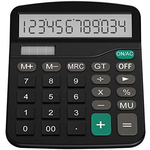 Helect H1001- Calculatrice de base, énergie solaire, noir