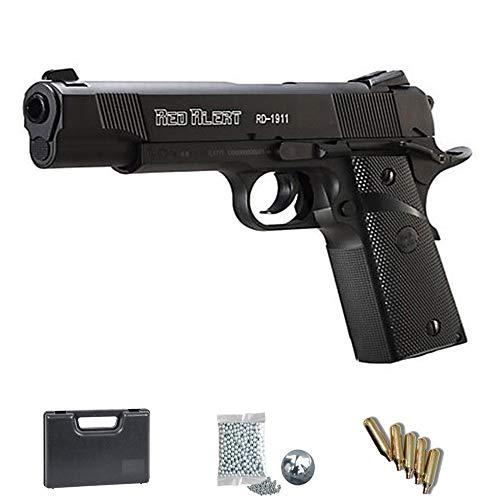 Set Gamo Red Alert RD 1911 - Pistolet à air tablette + mallette et accessoires. Arme balistique CO2 (pastilles d'acier BB) Cal 4.5mm