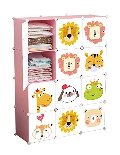 besbomig Armoire en plastique portative armoire armoire combinée - Cube Organiser modulaire de rangement Boîte de rangement modulaire Jouets et livres pour enfants étagères de rayonnage