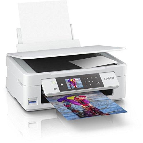 Epson Expression Home XP-455 - Imprimante multifonction (jet d'encre, 5760 x 1440 DPI, 100 feuilles, A4, impression directe, blanc)