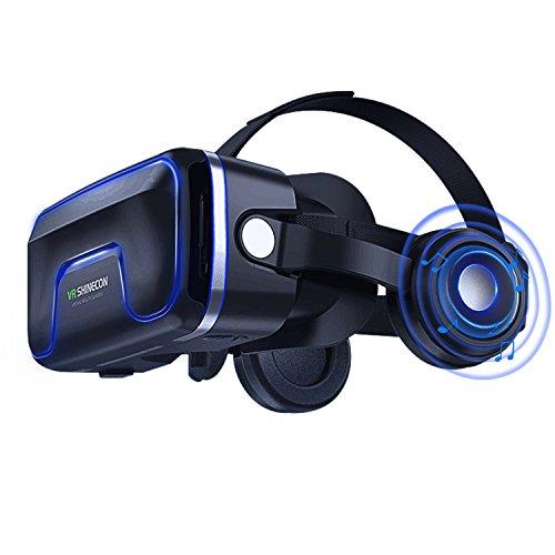 Lunettes de Réalité Virtuelle 3D VR, Lunettes vr pour Jeux 3D Panoramic Vision Immersive Jeu pour iPh X/7/6s 6/plus, Galaxy s8/ s7 avec écran de 4,7 à 6,0 pouces