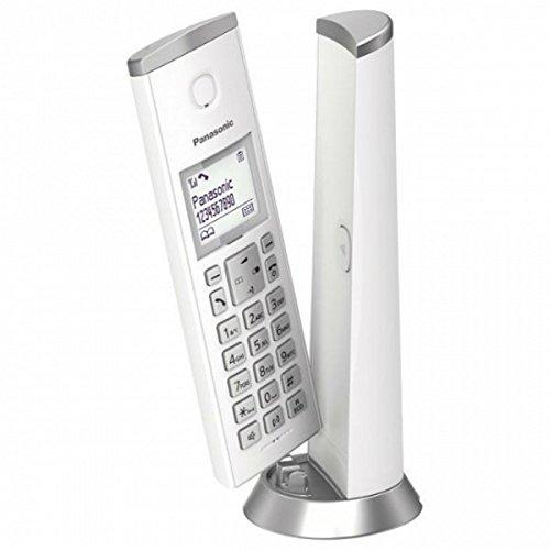 Panasonic KX-TGK210SPW - Téléphone numérique sans fil (LCD, identification de l'appelant, sonorisation personnalisée, haut-parleur mains libres) couleur blanc
