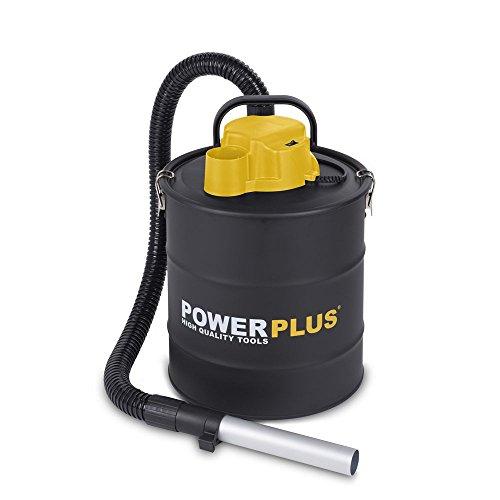 PowerPlus POWX300 Extracteur de cendres, 1200 W, 240 V, jaune noir, 20 Litres