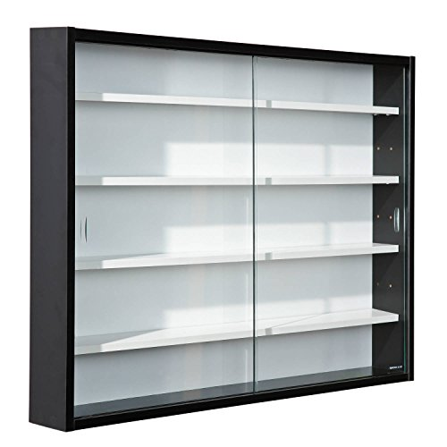 Easy Home Simply A20 - Vitrine en bois MDF et verre, Blanc
