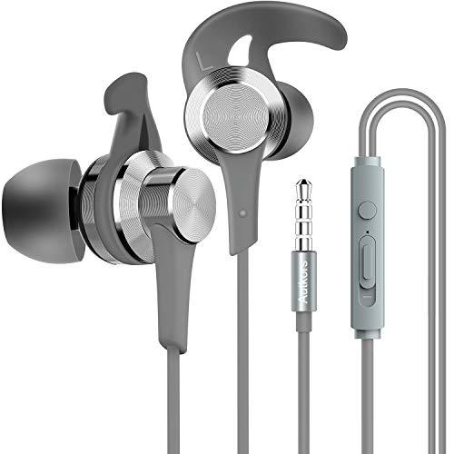 Casque d'écoute, casque d'auteur avec câble et microphone Casque d'écoute haute définition avec isolation du bruit pour Huawei, Samsung, iPhone 6/6s et écouteurs de 3,5 mm.