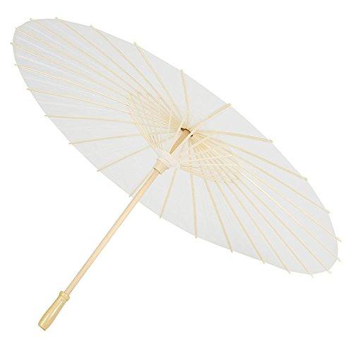 Parapluies Zerodis Chinoise / Japonais Parasol Papier Parapluie Livre Blanc Parapluies Bricolage Peinture Décorative Parapluies de Mariage Parapluies de Fête Décoration Photo Prop.