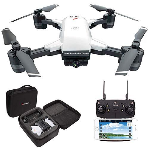le-idea IDEA10 Drone GPS, WiFi FPV Quadcopter avec caméra HD 1080P avec Follow Me, grand angle de 120º, RTF Altitude Hold, mode sans tête et retour à la maison