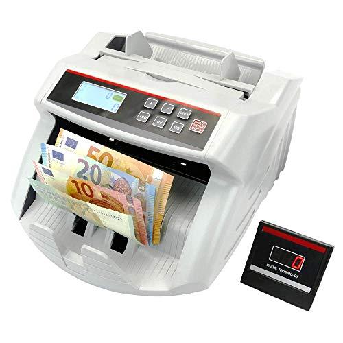 PrimeMatik - Compteuse de billets avec détecteur de faux billets UV MG1 MG2