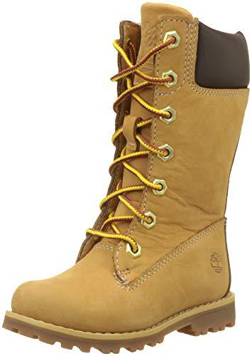 Timberland Classic Tall dentelle U, unisexe Bottes militaires pour enfants, jaune, 23 EU