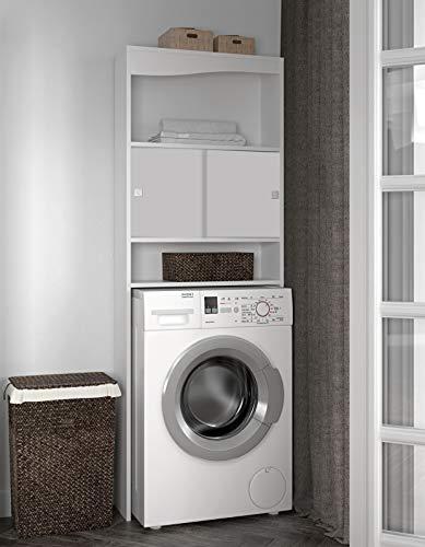 Symbiosis 6090A2121A17 - Meubles de salle de bain avec lave-linge creux, couleur blanc