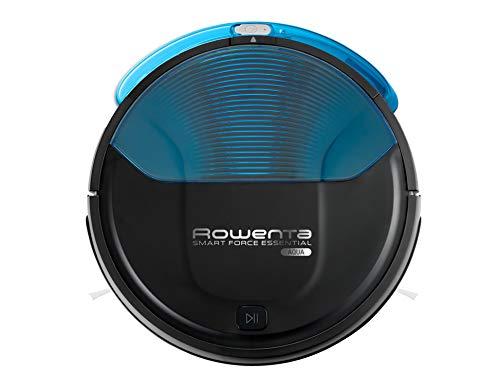 Rowenta Smart Force Essential Aqua RR6971WH - Robot aspirateur 2 en 1, aspirateur et brosse, avec capteurs anti-chute, batterie lithium-ion autonomie 150 minutes, télécommande et socle de chargement inclus