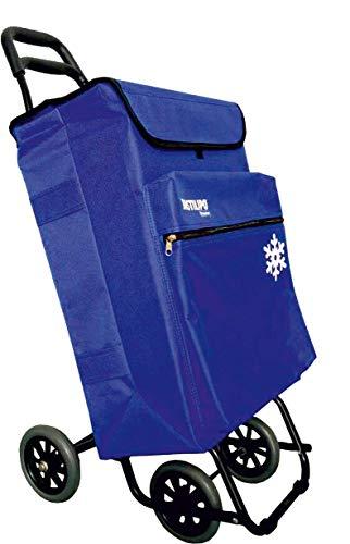 Bastilipo Julia 7104 Julia 7104 Panier 4 50 litres avec sac thermique et roues pliantes - Bleu électrique, Normal