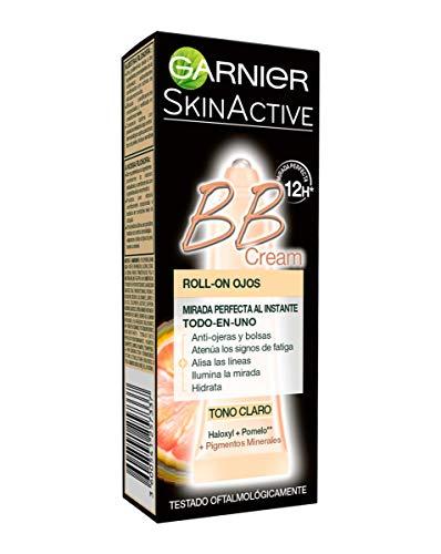 Garnier Skin Active BB Cream Roll-On Eyes Crème Correcteur et Anti-Imperfections, Tonique Léger avec Vitamine C - 7 ml