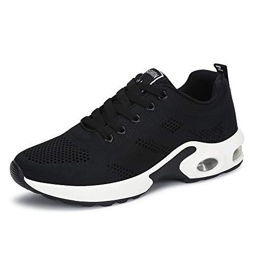 Chaussures de course pour femmes Chaussures de course à pied Air Cords Running Fitness Sneakers 4cm Noir Rouge Rouge Rose Violet Noir 41