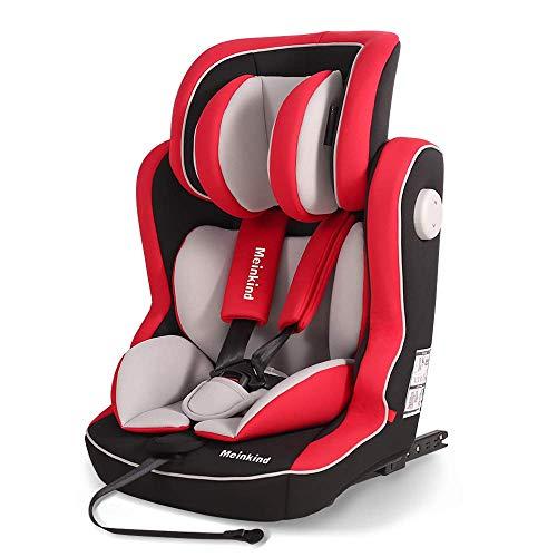 Meinkind Siège d'auto pour enfants Groupe 1 2 3 Isofix (9-36 kg), grandit avec l'enfant, de 9 mois à 12 ans Approx, ECE Standard R44/4, Rouge