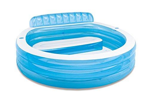 Intex 57190NP - Piscine gonflable avec fauteuil 224 x 216 x 76 cm, 590 litres