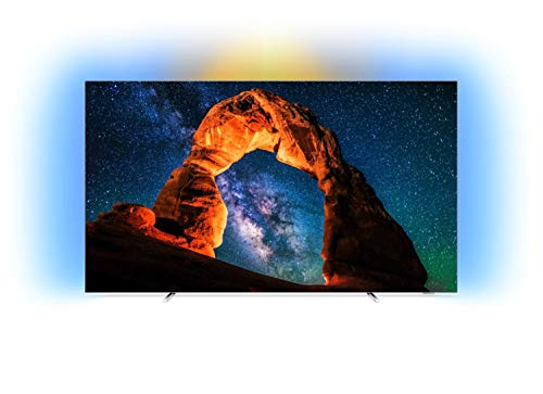 Philips Android TV 4K OLED Ultra HD plat 55OLED803/12 - TV (139,7 cm (55'), 3840 x 2160 pixels, OLED, Smart TV, WiFi, Noir)