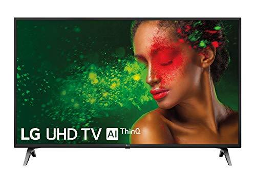 LG 49UM7100ALEXA - Smart TV UHD 4K 124 cm (49') avec Intelligence Artificielle, Processeur Quad Core, HDR et Ultra Surround Sound, couleur noire.