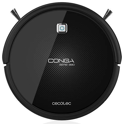 Cecotec Conga 990 Excellence Series - Aspirateur robot brosse à récurer, avec 4 brosses latérales, 220-240/50 Hz, noir