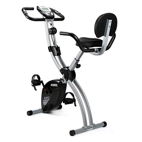 Vélo d'exercice KUOKEL Vélo d'exercice Vélo d'exercice Vélo d'exercice pliable Vélo d'exercice Résistance au bruit variable sous moniteur LCD Téléphone d'exercice Support pour vélo d'exercice