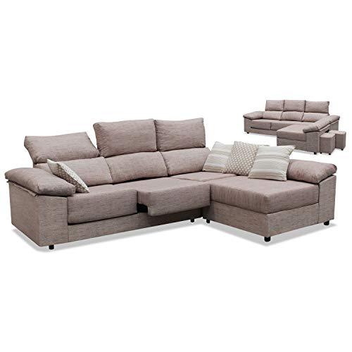 Canapé d'ameublement pas cher 2020 avec chaise longue, 2 poufs cadeaux, tissu anti-taches, tissu amovible ref-04