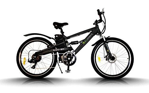 Egarbike Vélo électrique ROC SP Double Suspension 36V 10ah MTB 7 SP 360wh LIFEPO4