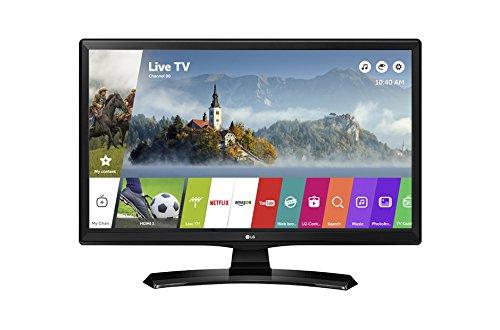 LG 24MT49S TV 61 cm (24') WXGA Smart TV WiFi Noir - TV (61 cm (24'), 1366 x 768 pixels, IPS, Smart TV, WiFi, Noir)