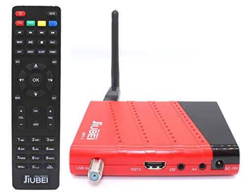 Jiubei JDT-1 Récepteur décodeur satellite HD JDT-1 et lecteur multimédia avec antenne WiFi
