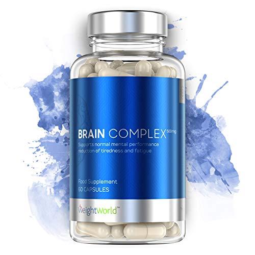 Brain Complex - Supplément pour la concentration, la mémoire et la motivation - Vitamines pour le cerveau - 60 capsules