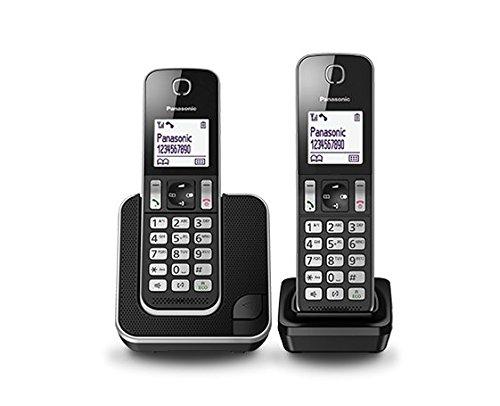 Panasonic KX-TGD312SPB - Téléphone fixe numérique (blocage des appels, jusqu'à 16 heures, mode Ne pas déranger), noir