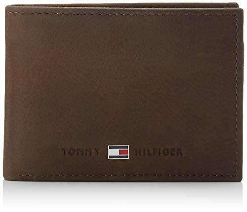 Tommy Hilfiger Johnson Mini CC Pochette à rabat et pièce de monnaie, Portefeuille homme^Femme, Marron, OS